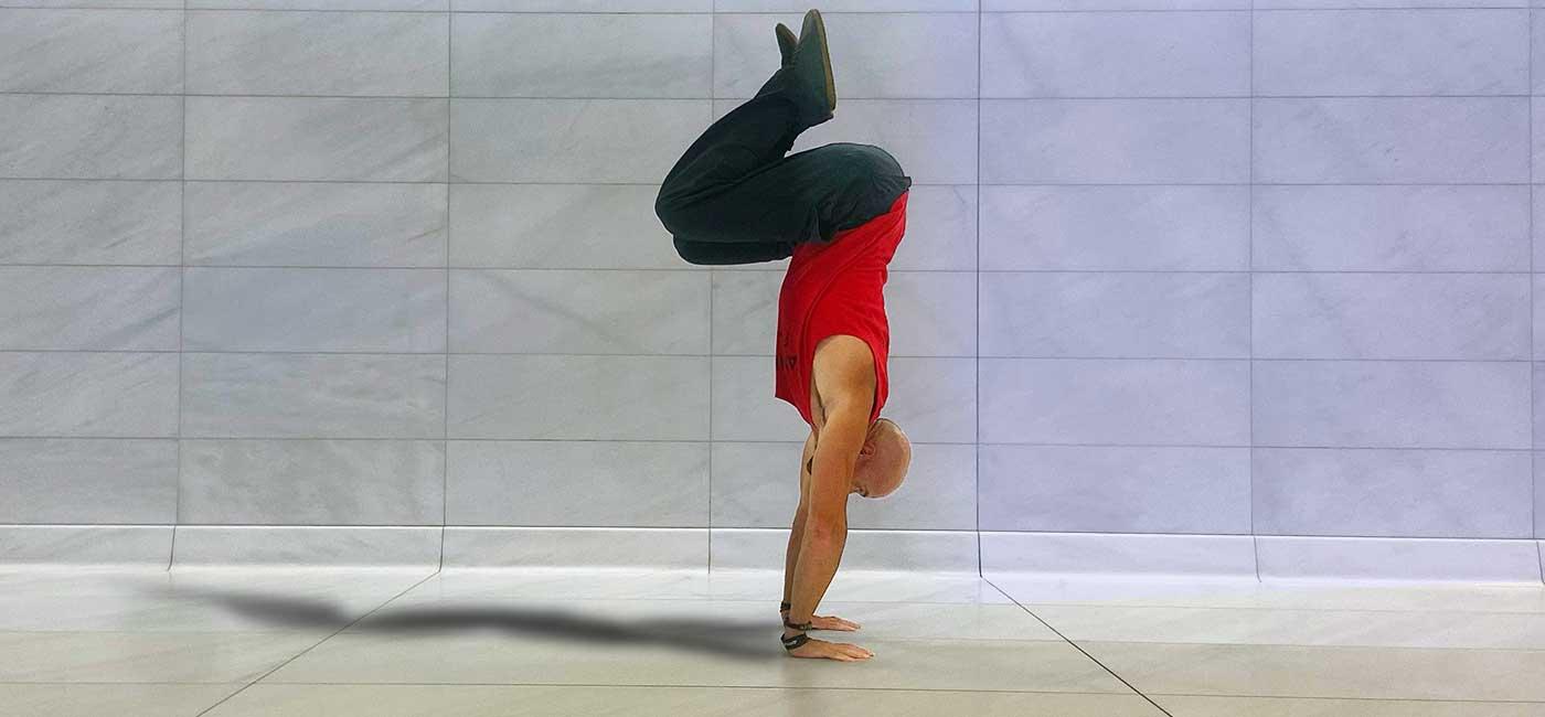 Chris Flores performs tuck Balance